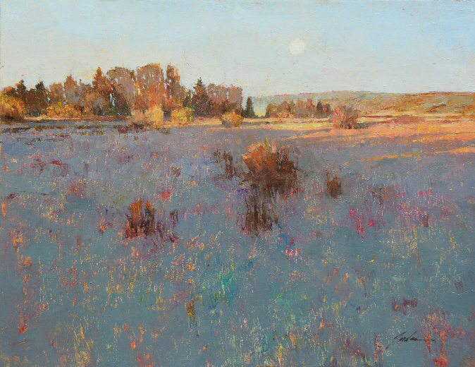 Pete Jordan,  Bayview Moonrise No. 2 , 14 x 18, $1800