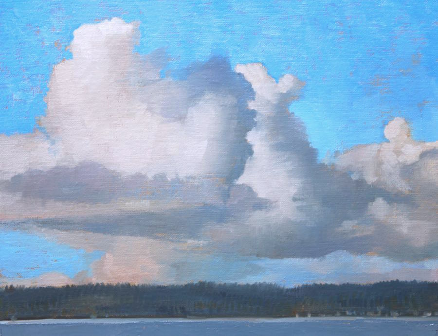 Building Clouds Over Camano