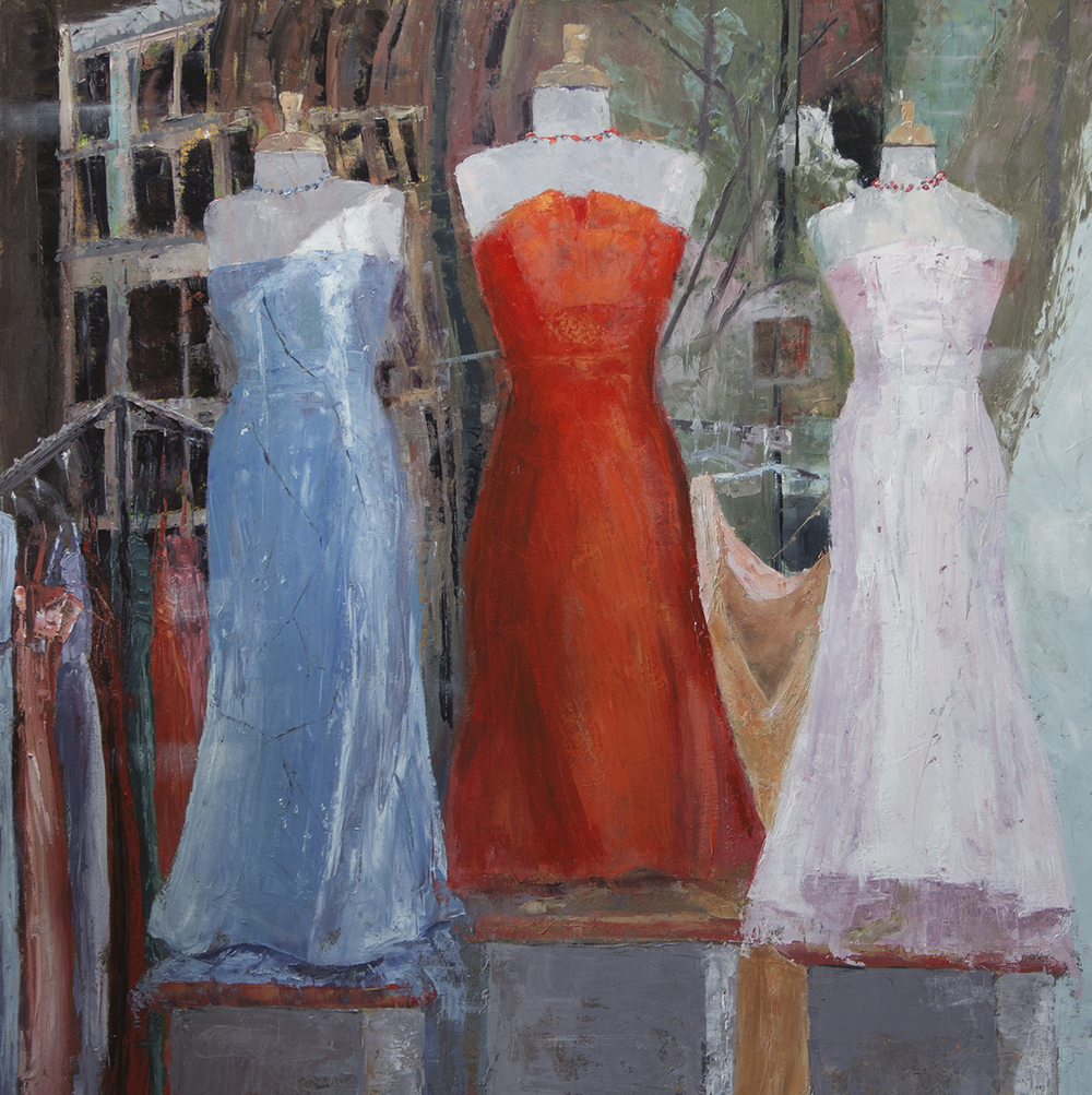 Sandy Byers, Evening Wear, oil, 36x36