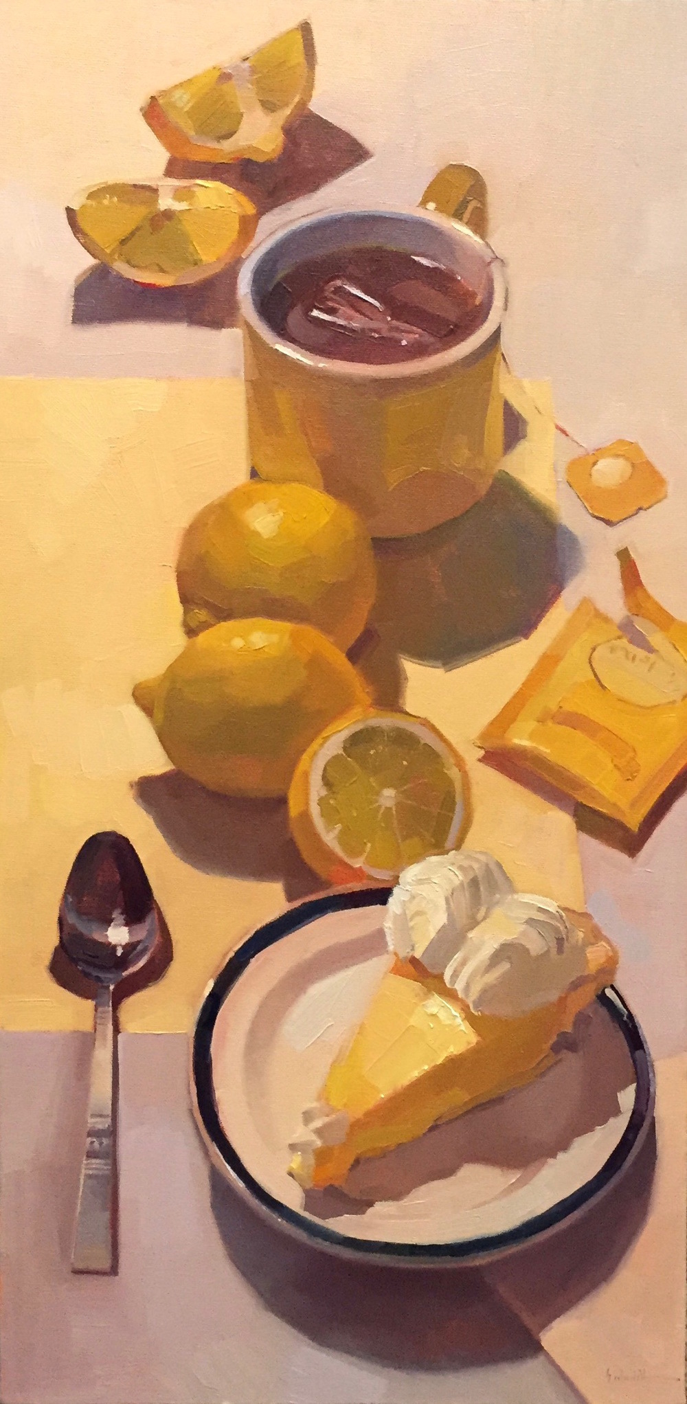 Sarah Sedwick, Lemon Path, oil, 12 x 24