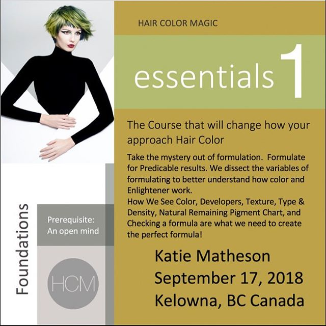 #HCM Essentials 1 with Katie Matheson @katiemathesoncolor in Kelowna, British Columbia  @aveda Monday, September 17, 2018  Enrollment avedapurepro.com  #💙❤️💛 #HCM #katiemathesoncolor #aveda