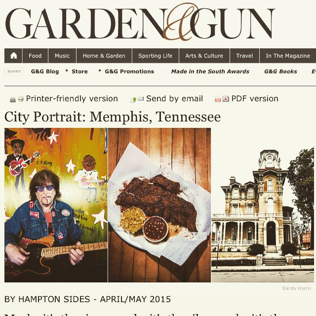 @gardenandgun has it right. We're #gritngrind #tradition and #class it's why we #lovememphis