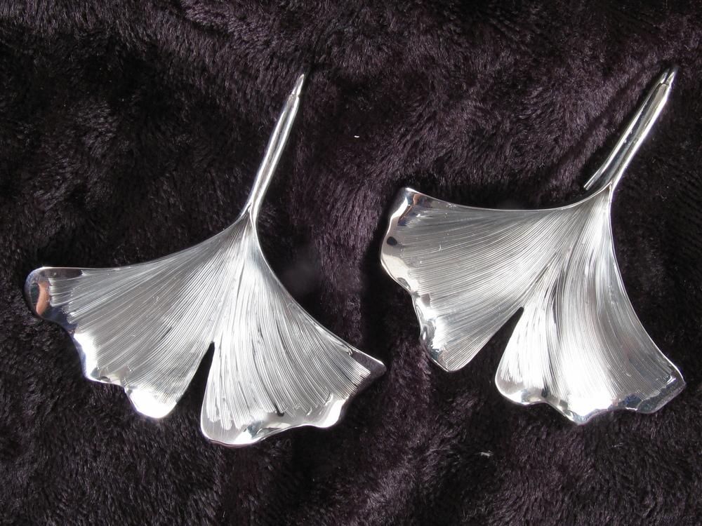 Large Ginkgo Earrings