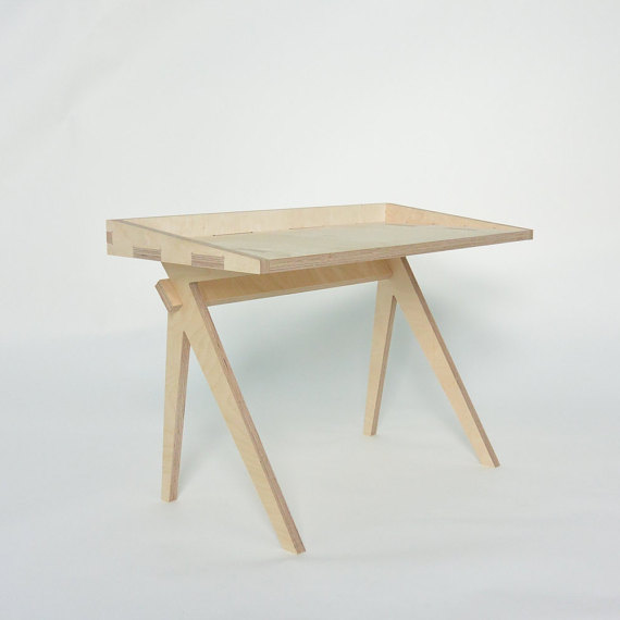 5. PLYCONIC: Children's desk (currently with a 50% DISCOUNT!) £70.    I recently discovered the wonderful range of iconic ply kids furniture made in East London by mother of one Helen. See also her gorgeous stools and I love the interlocking set Plyshapes - what a gorgeous unique toy!