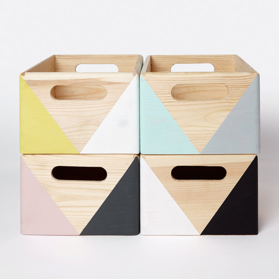 HAPPY LITTLE FOLKS SHOP - Gorgeous geometric storage boxes from mother maker Iga