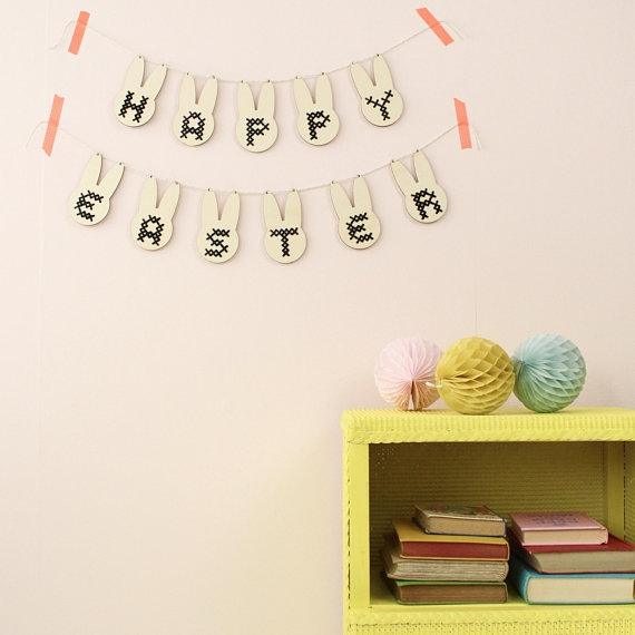 COTTON CLARA - Get your craft on this Easter with this gorgeous cross stitch garland