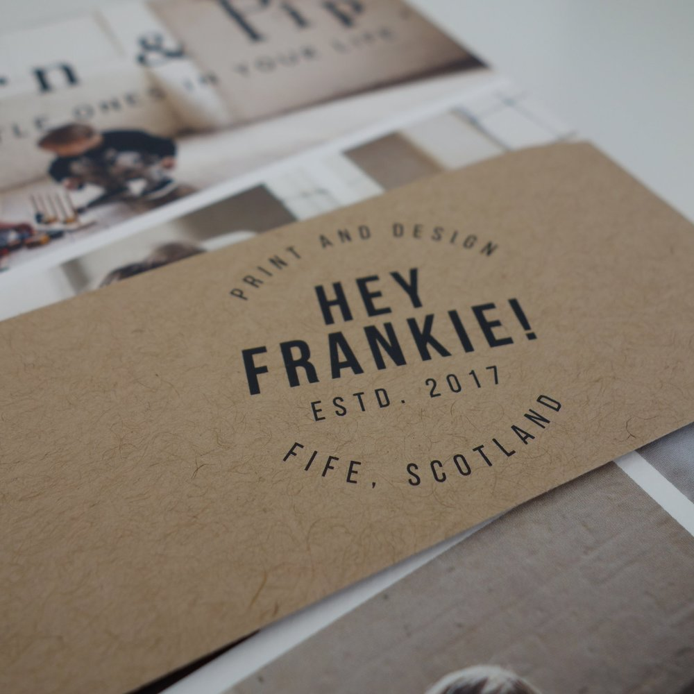 HEY FRANKIE - SERVICES: Business Stationery •Logo Design • Packaging Design • Product Design •Social Media Graphics • Business Graphics • Website Design (Squarespace) • Print ServicesOFFER: 20% off hourly rate