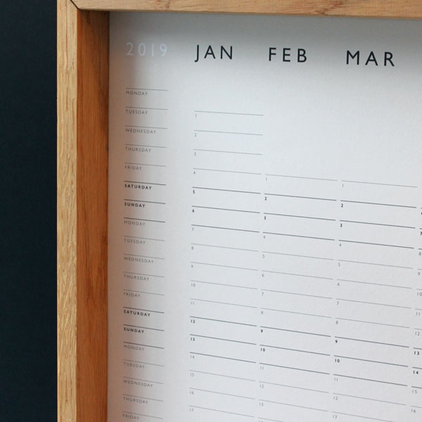 Wall Planner : Mark + Fold