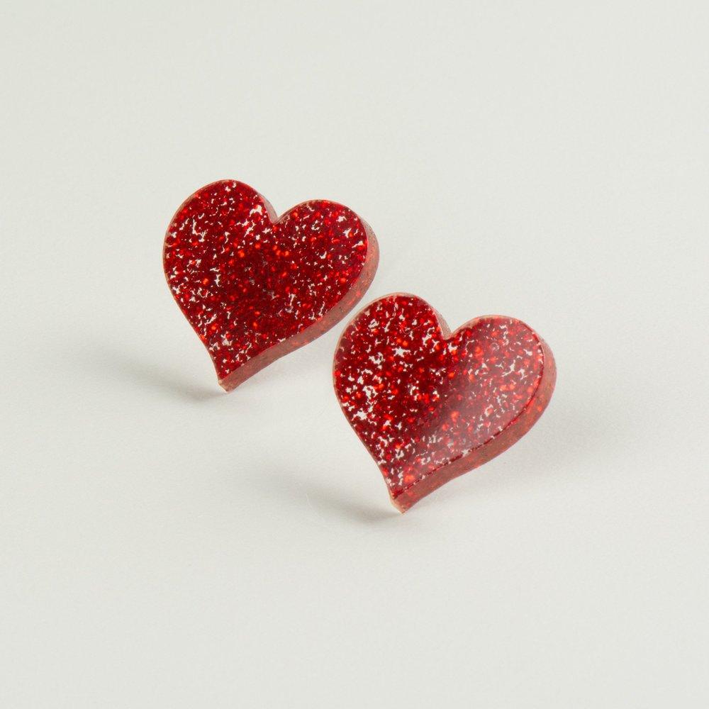 Arlette Gold : Heart Studs