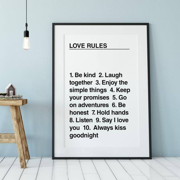 The Native State: Love Rules Print