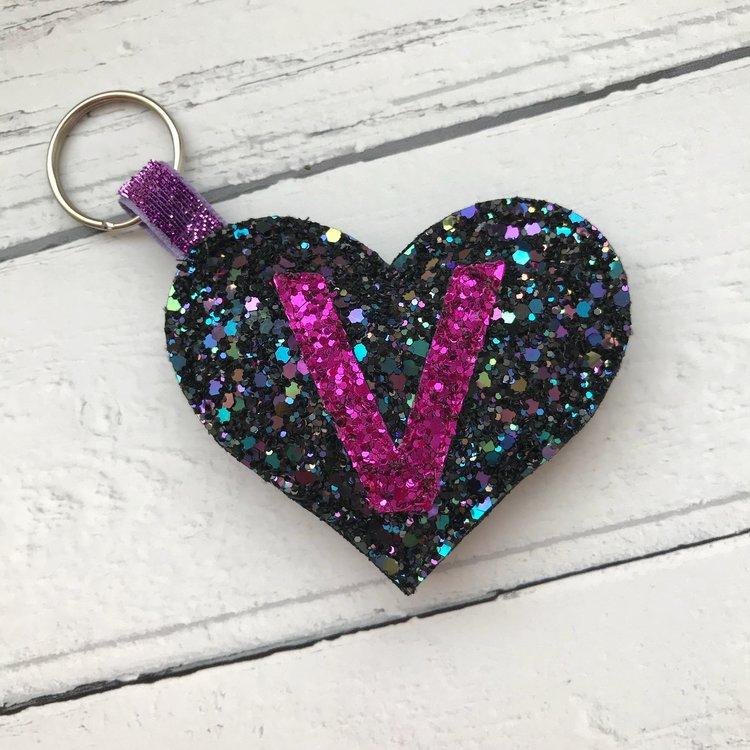 Petit Dunnocks: Personalised Heart Keyring