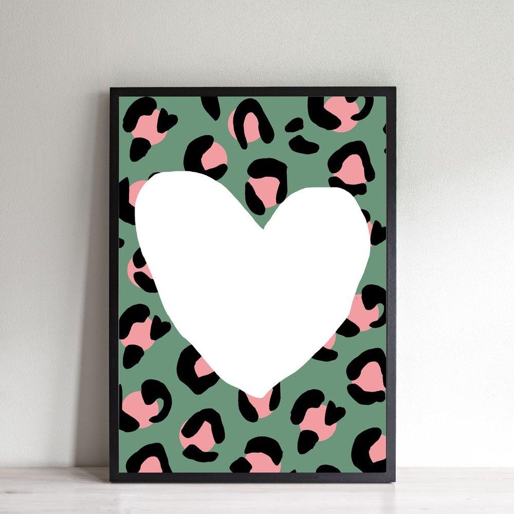 Wonder and Rah: Leopard Heart Print