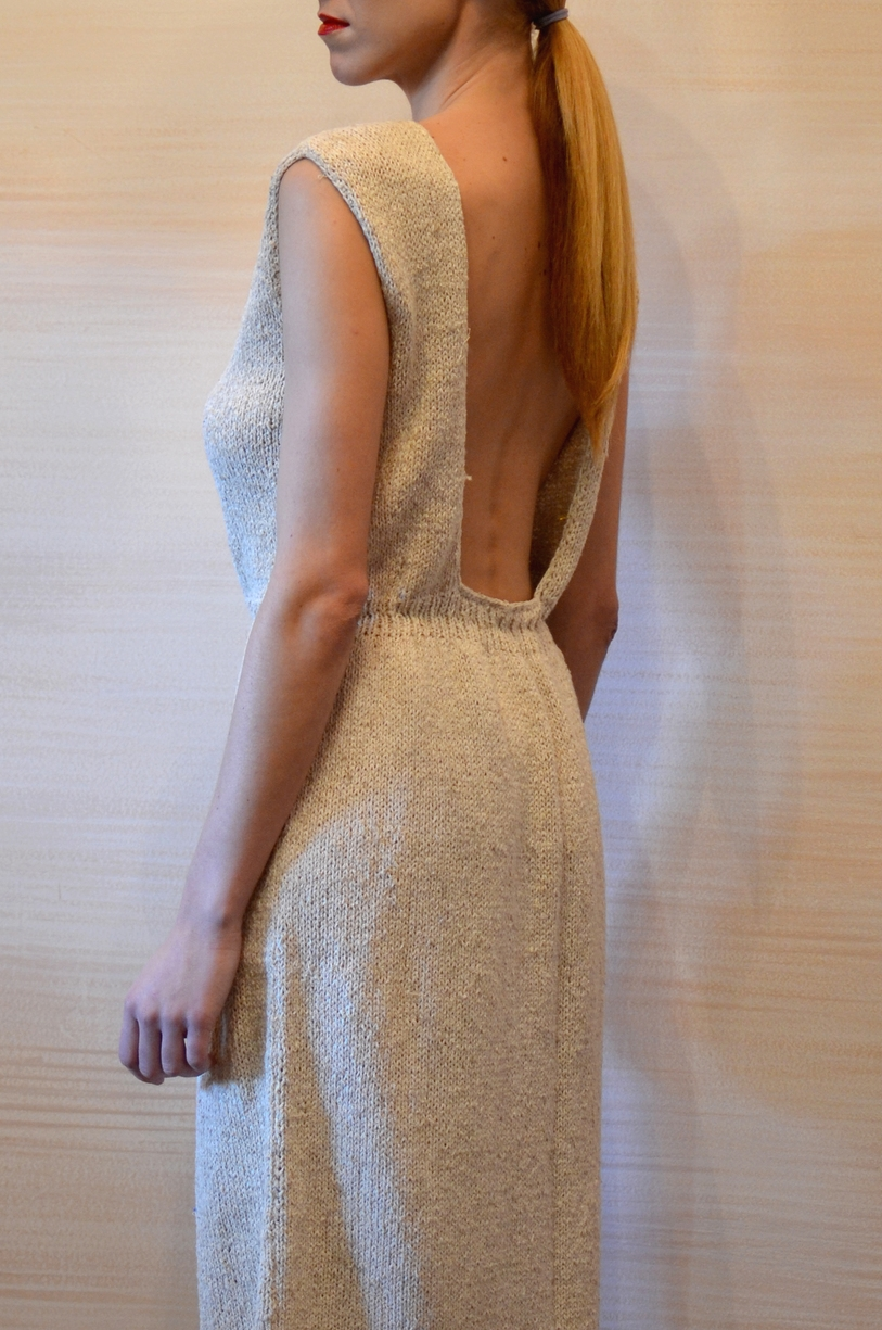 LOOK 10  •  wheat cut out knitted dress