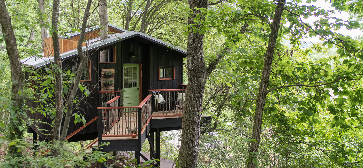 2017 01 tree house rentals in north carolina - Treehouse Exterior 1 Jpg