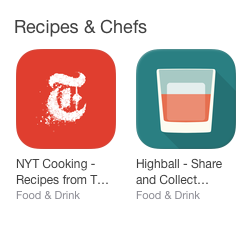 Food & Drink iPhone App Store Category