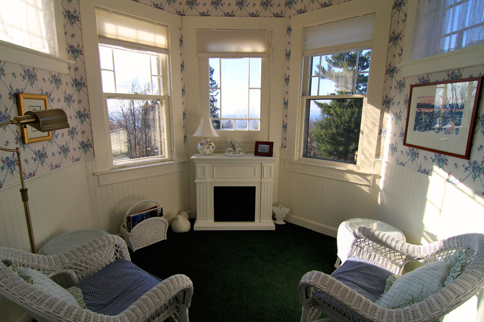 Tower room: views of Lake Champlain