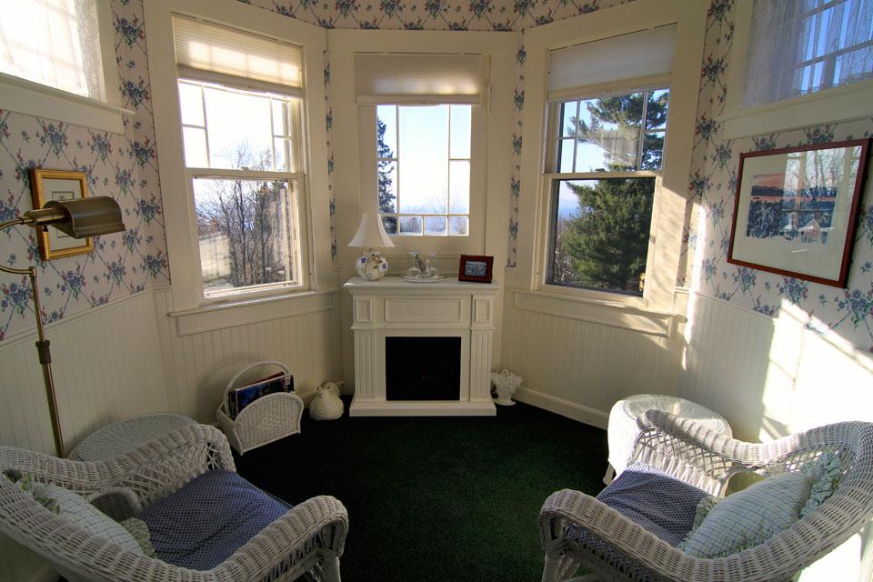 Tower room: views of Lake Champlain