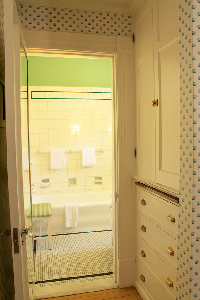 Built-in cabinets, turn-of-the-centry charm in Room 5 at willard Street Inn in vermont