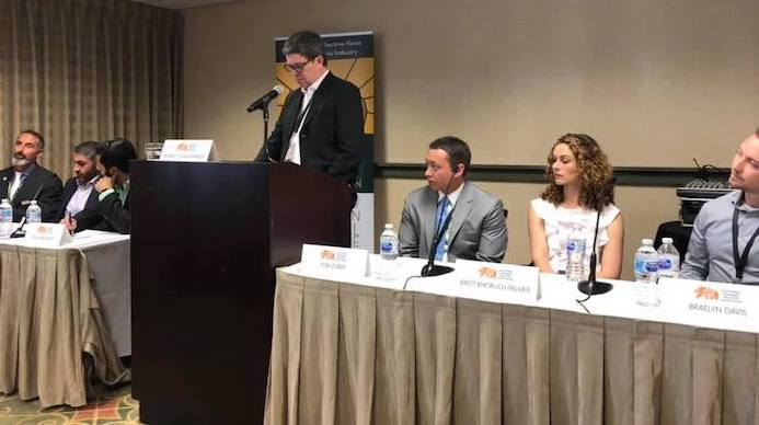 Our co-founder Robert O'Shaughnessy moderates the branding sesh at  California Cannabis Industry Association 's Annual Policy Conference with some great folks including  Kiva Confections , Therapy Tonics & Provisions, Flav,  The Arcview Group , SIVA Enterprises, and Zuber Lawler.