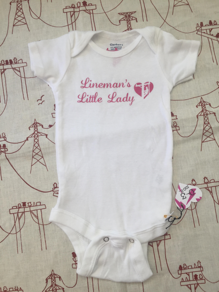 6a76cffee Lineman's Little Lady Onesie — Lineman Love Supply Co. LINE LIFE ...