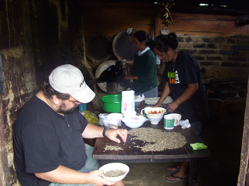 Mike and others sorting coffee 500.png
