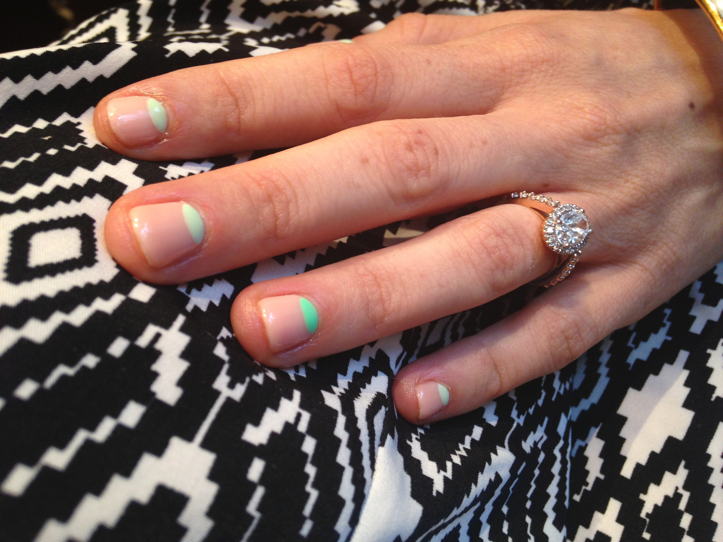 7ca9843be8 What do you think of my green half moon mani? It was definitely a  conversation starter! Since the new DKNY Be Delicious ad just came out  (behind the scenes ...
