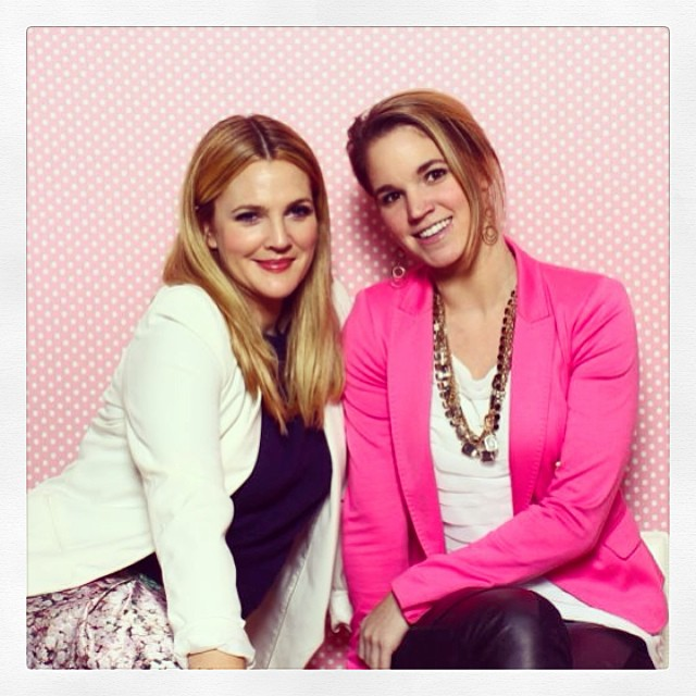 BeautySweetSpot contributor, Emily Rekstis and Drew Barrymore.