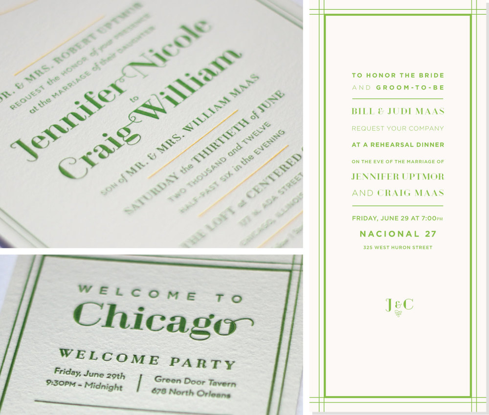 Formal Invitation Suite, Letterpress