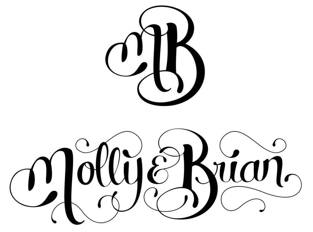 Custom Lettered Monogram & Names