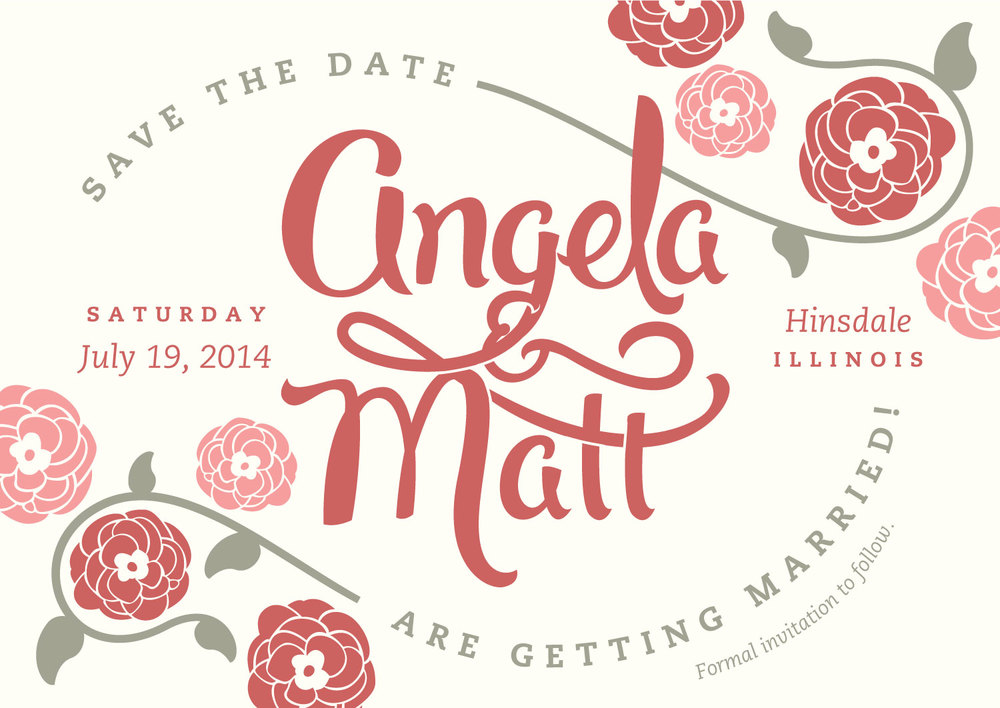Custom Lettered & Illustrated Save the Date