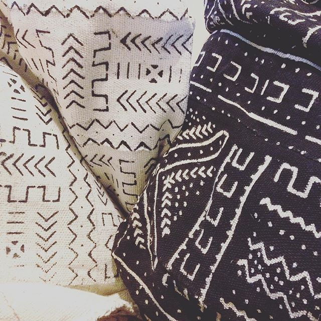 New textiles for some up and coming projects 🙀😍 #africanmudcloth #textiles #fabric #upholstery #thelostsocietydesigns