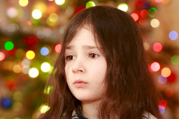 sad Christmas child
