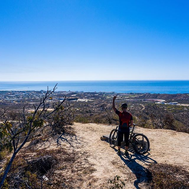 It's not a bad place to be. From the mountain straight to the beach.  #visitmexico #baja