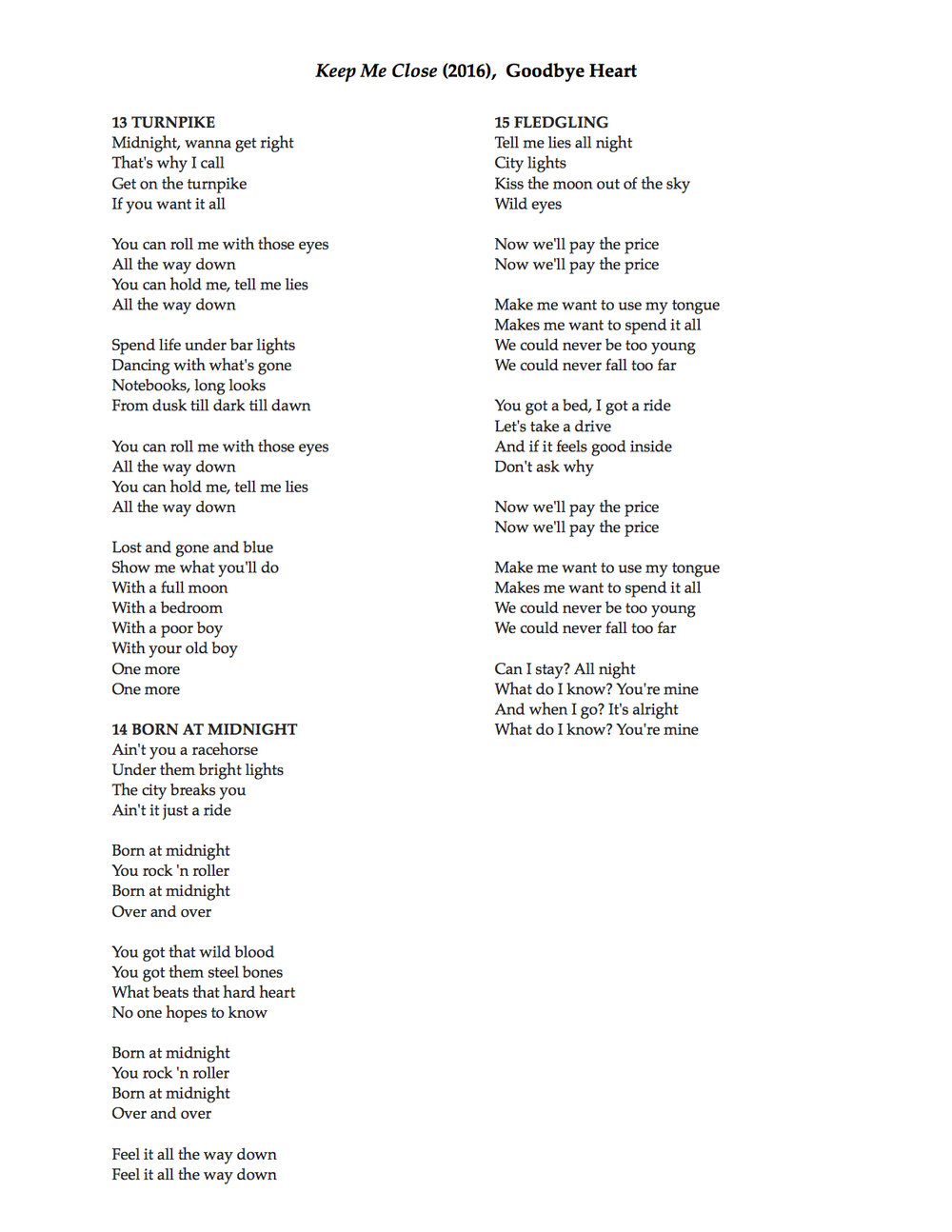 keep me close lyrics 13-15