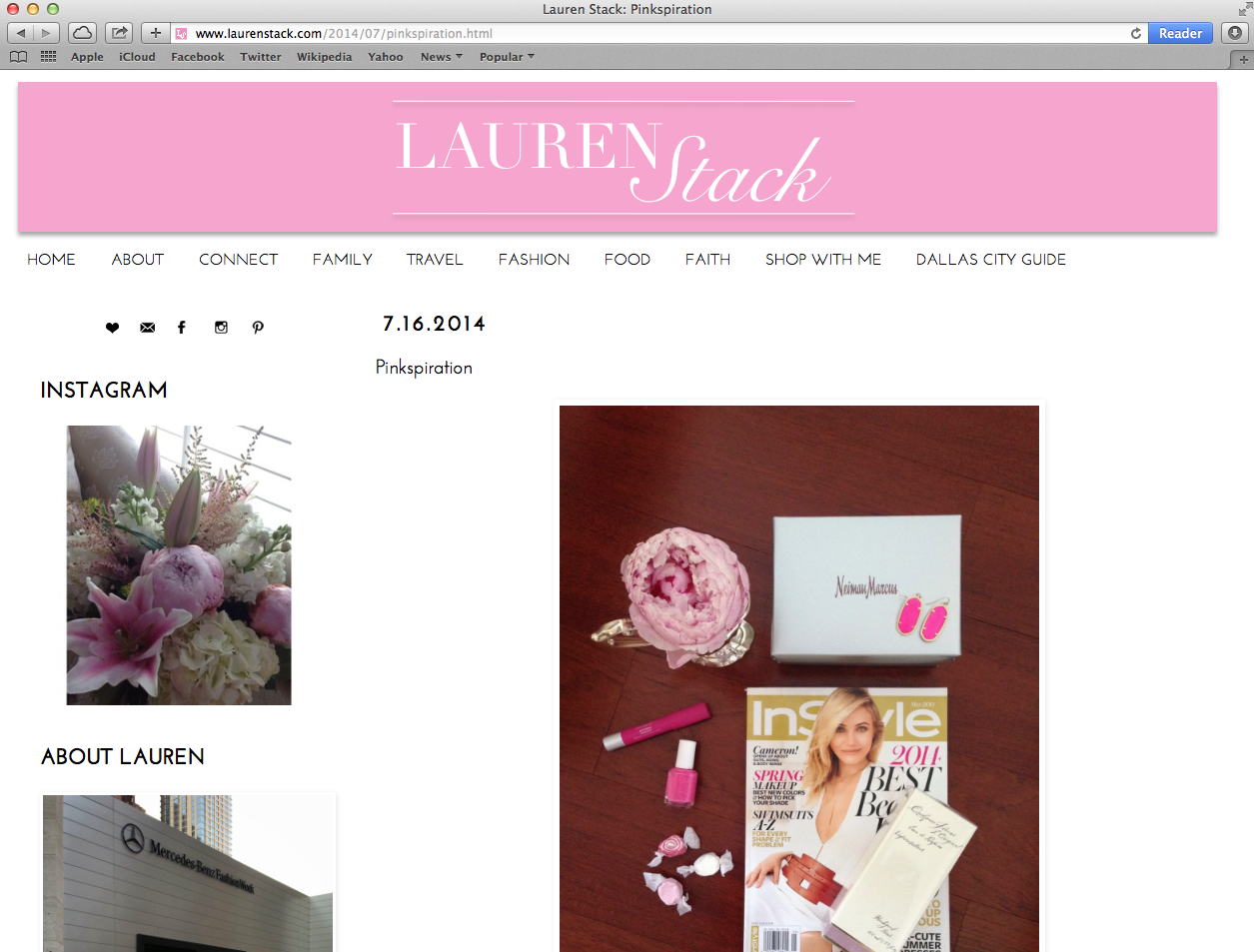 LaurenStack.com Blog Revamp Preview    <guest post from  TheWellSet.com >       So excited to be able to share a much loved blog   LaurenStack.com  . Lauren is a childhood friend of mine and she has always had a pension for style and fashion. She has turned that love into a burgeoning career as a stylist doing fabulous things like working with   Neiman Marcus   and at   New York Fashion Week  .        Lauren contacted my marketing company,    A Brand Strategy Consulting   , about updating her blog to be as fabulous as she is. We had a blast picking out colors, headers, and fonts. It was really great to work with someone that shares the same passion for their work and is truly fearless about following her dreams. I am blessed to have clients like her and let's just say I try to keep the use of 'blessed' in check for when it's real. This is one of those times when it is totally real…   Read more here.