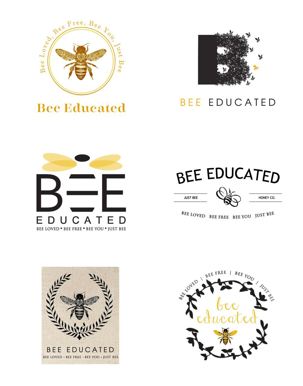 Here's a sample of what one round of logo iterations look like. With your feedback we narrow down the selection and make small changes.