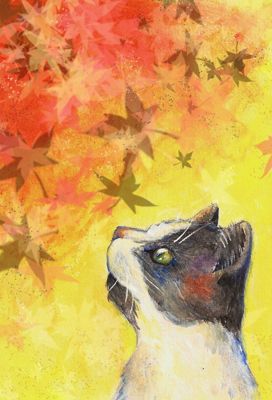 'Fall Feline' print