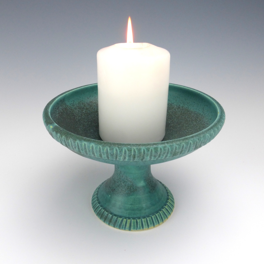 Our Symbol The Flaming Chalice: Hand Carved Table Chalice