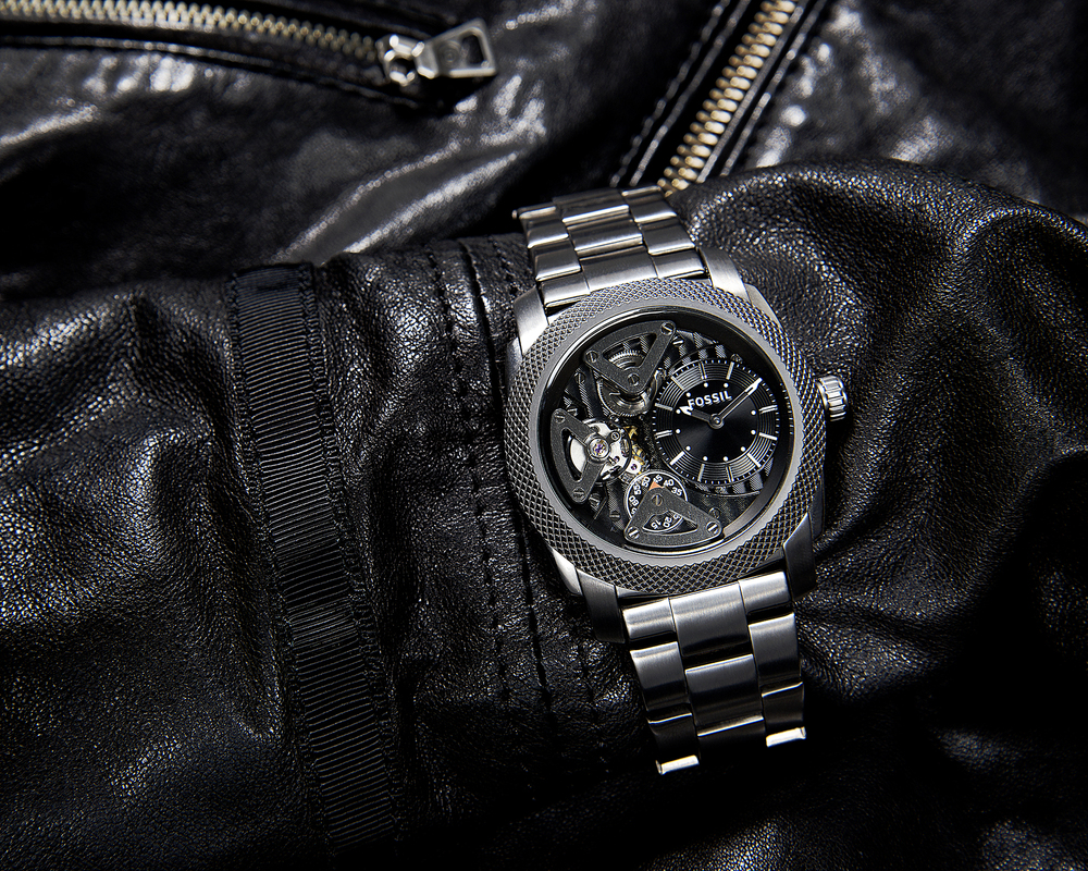 Gunmetal & Leather