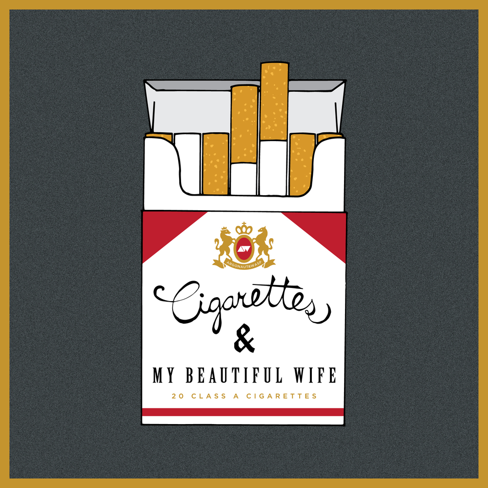 Artwork for argonaut&wasp's single,  Cigarettes and My Beautiful Wife.