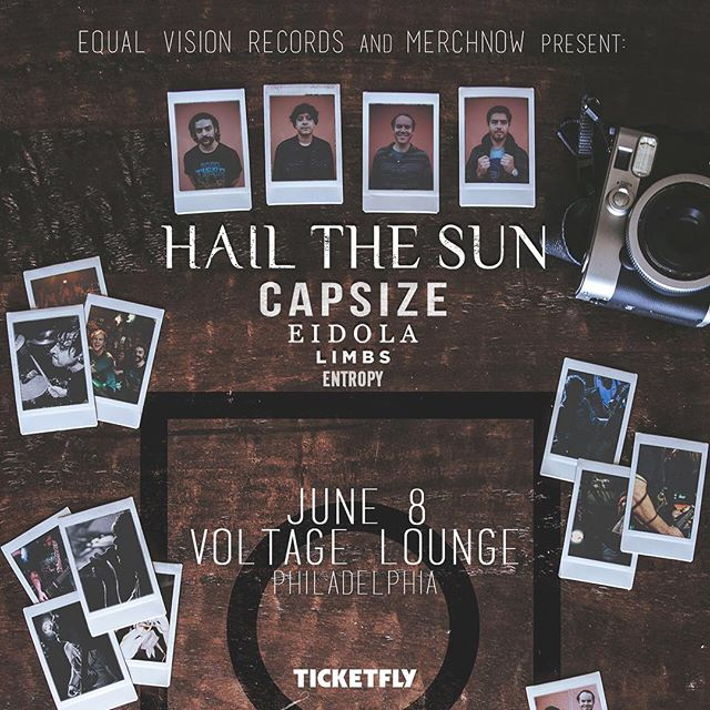 We play Philly's Voltage Lounge with @hailthesun & @capsizeband tomorrow night... come hang, city slickers! It's been too long. Doors @ 6:00. Tickets are available at the door or through the link on the event page below. . https://www.facebook.com/events/1840220125992013/