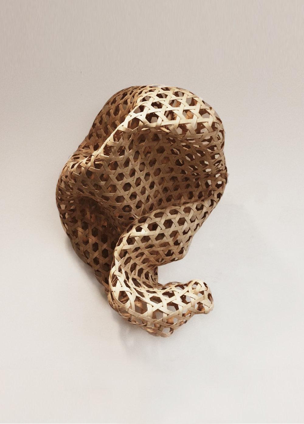 Enam (Six)  2015 Hexagonal weave using reed