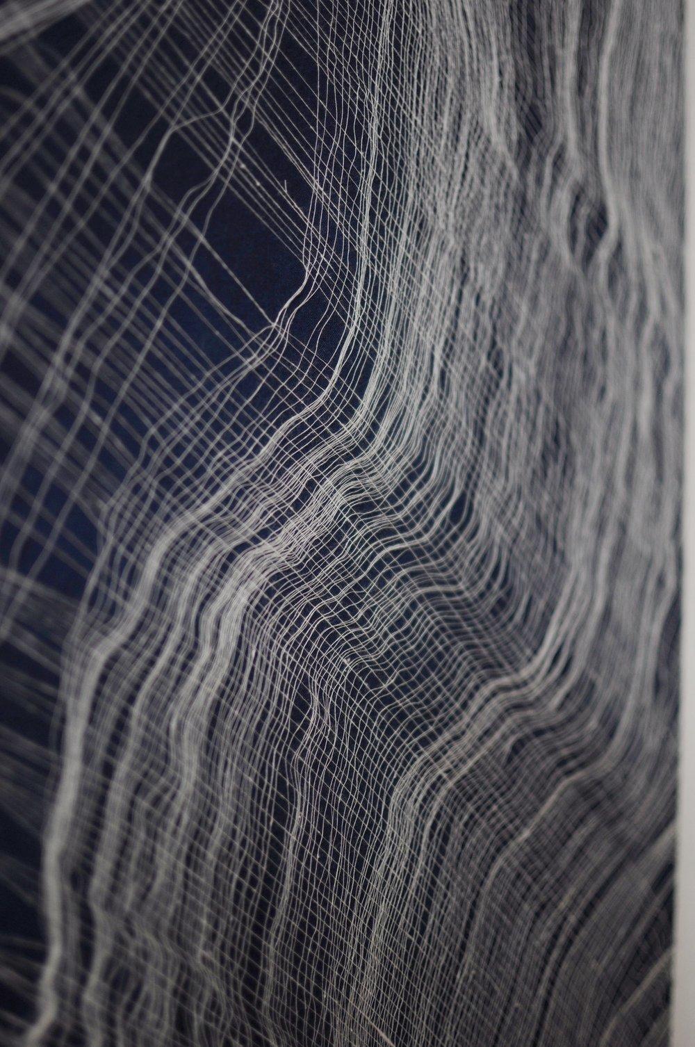 Morphology I , 2015 Woven Cotton and Indigofera  Alexander Sebastianus & Dori Badics 2015