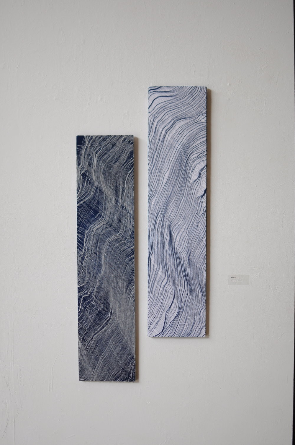 Morphology I & II , 2015 Woven Cotton and Indigofera  Alexander Sebastianus & Dori Badics
