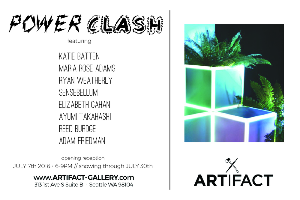 "Artifact Gallery ""Power Clash"" Show Postcard"