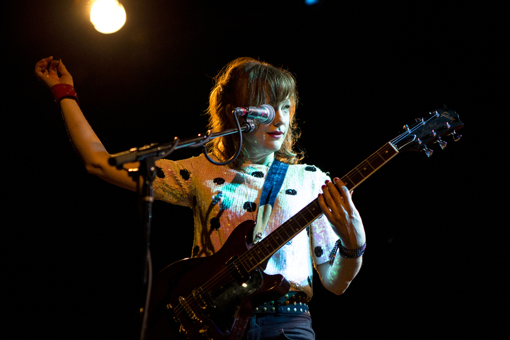 Mary Timony of Ex Hex plays at the Music Hall of Williamsburg on June 12, 2015.  Shot for the  Village Voice.
