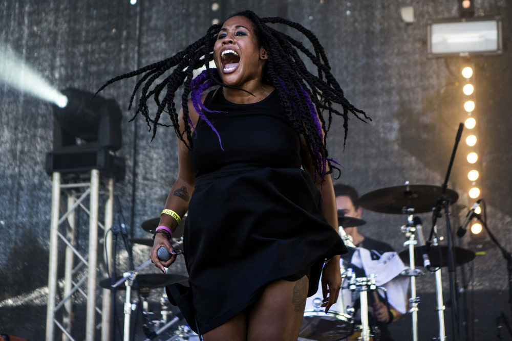 Meredith Bell of Palaceburn performs at Afropunk Fest in Brooklyn, New York on Aug. 22, 2015. Photo shot on assignment for the Village Voice.