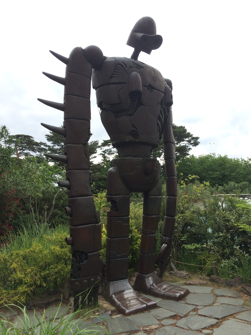 Laputa Robot Statue on Studio Ghibli Museum Rooftop