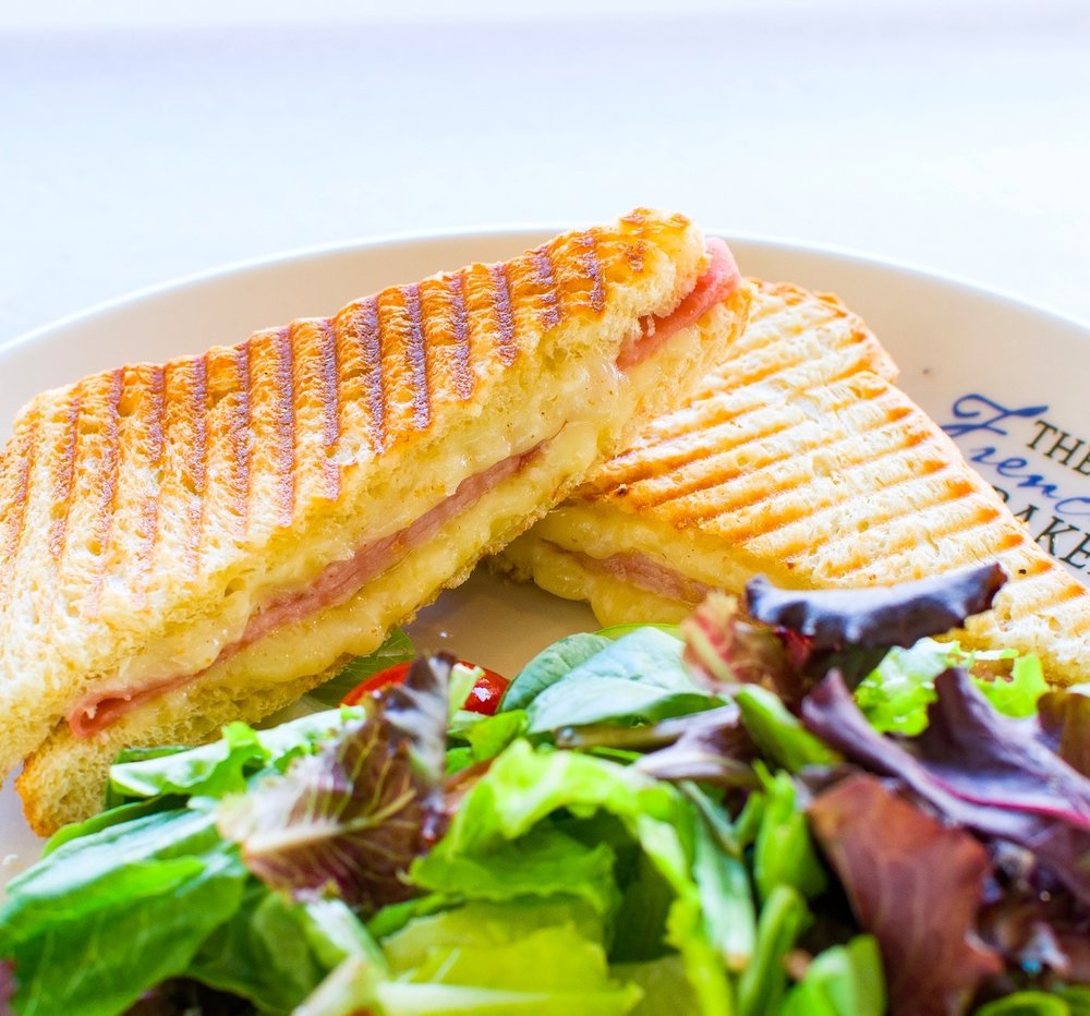 Traditional Croque Monsieur - served with side of house salad