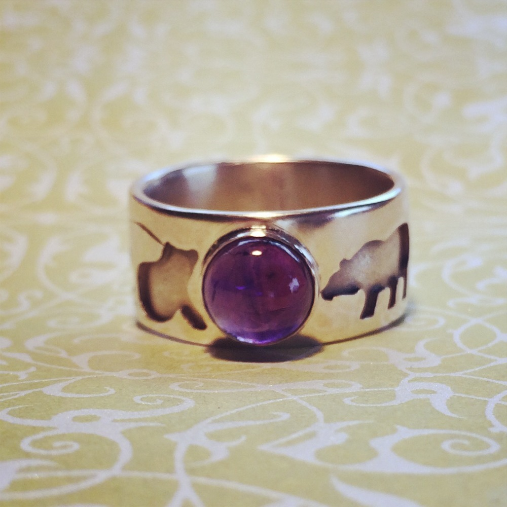 Two Bears Wedding Ring